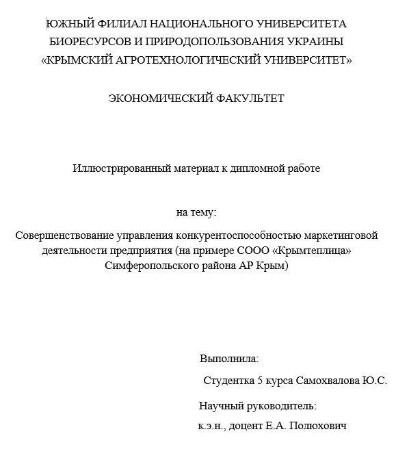 Раздаточного материала к дипломной работе пример образец Раздаточный материал к дипломной работе по маркетингу образец
